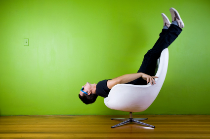 Upside Down In Chair